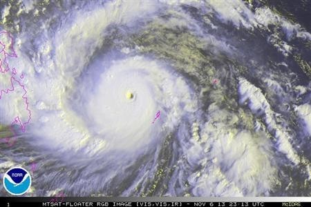 Super typhoon Yolanda is the most powerful storm of 2013