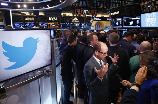 Twitter Stock Opens at $45.10
