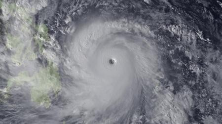 Super Typhoon Haiyan is seen approaching the Philippines in this Japan Meteorological Agency handout image taken at 0630 GMT (0130 EST) November 7, 2013.