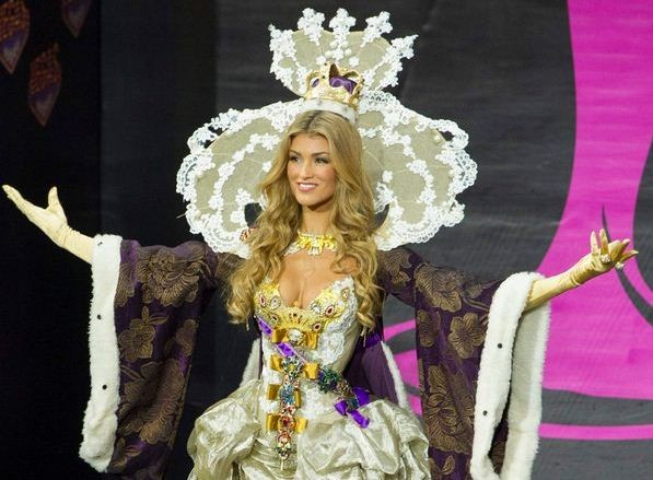 Miss Universe Great Britain 2013, Amy Willerton, takes part in National Costume Show at the 62nd Miss Universe pageant in Moscow, Russia. Amy has been predicted to be in top 16. (Photo: MIss Universe Organization L.P., LLLP)
