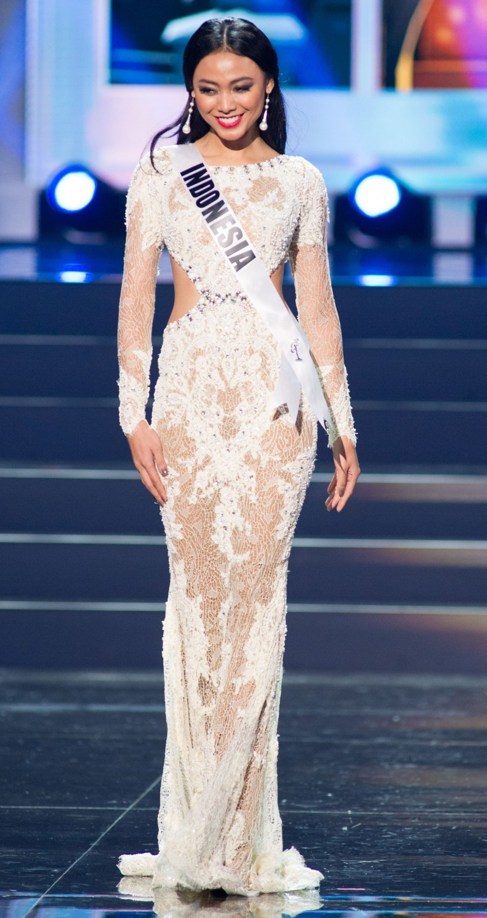 Whulandary, Miss Universe Indonesia 2013 (Photo: Miss Universe L.P., LLLP)