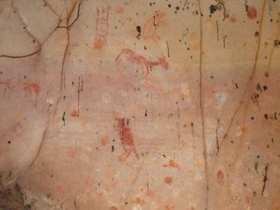 Another cave drawing depicts an  assortment of animals. (Photo: Alexine Keuroghlian/WCS)