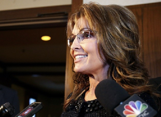 Sarah Palin attended Billy Graham's last sermon PIC: Reuters