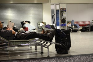 Heathrow airport sleeping