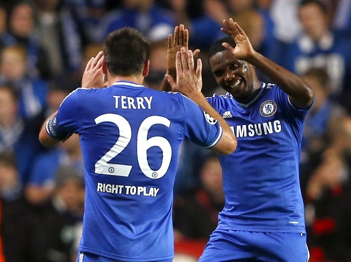 John Terry and Samuel Eto'o