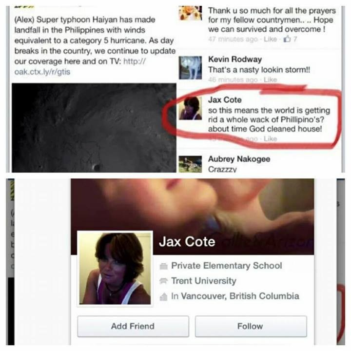 Facebook User Jax Cote Sparks Outrage for Racist Comment Against Filipinos,