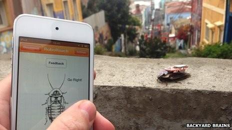 Backyard Brains' RobotRoach App.