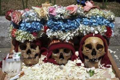 Day of the Skulls is said to hark back to pre-Columbian times when skulls were kept as trophies.