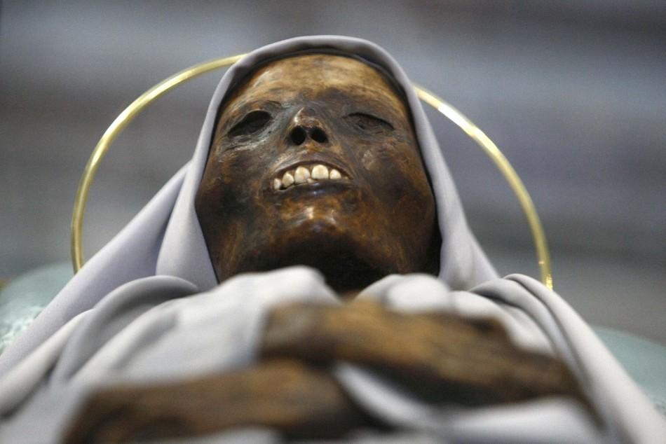 The mummified body of 13th century saint Rosa of Viterbo
