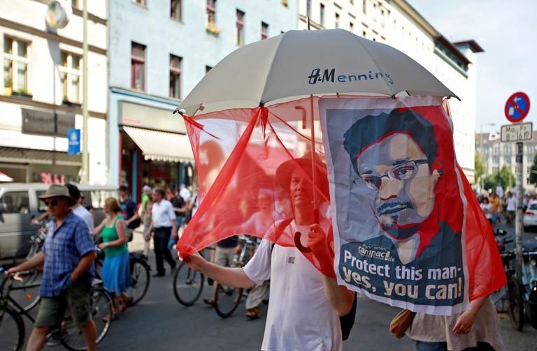 Edward Snowden protest