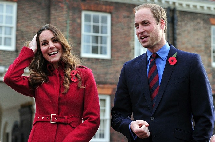 Kate Middleton and Prince William at a Royal British Legion Poppy Day event in Kensington Palace.