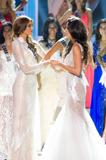 She was handed over the iconic Diamond Nexus crown by last year's title holder, Olivia Culpo of USA[MissUniverse.com]