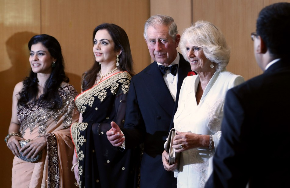 The royal couple at a charity event in Mumbai