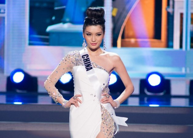 Jin Ye, Miss Universe China 2013, competes in her evening gown. (Photo: Miss Universe L.P., LLLP)