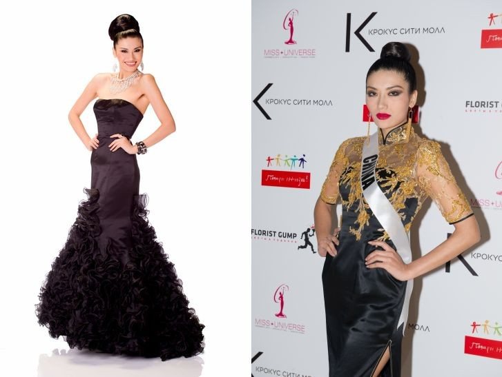 Jin Ye stuns in black gowns during Miss Universe 2013 pageant.  (Photo: Miss Universe L.P., LLLP)