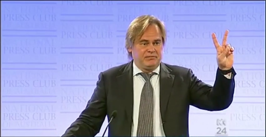 Eugene Kaspersky Speaking Press Club, Canbera