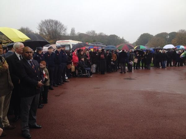 The service took place on Armistice Day to commemorate the veteran's service (Twitter/Mike McCarthy)