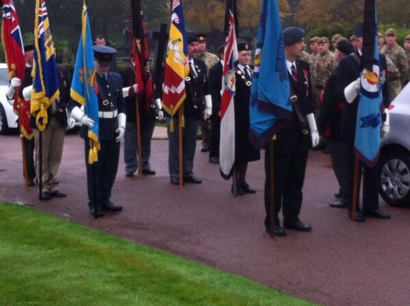 Military personnel were some of the mourners in attendance (Twitter/Steve Beker)