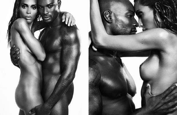 Tyson Beckford and Ines Rau