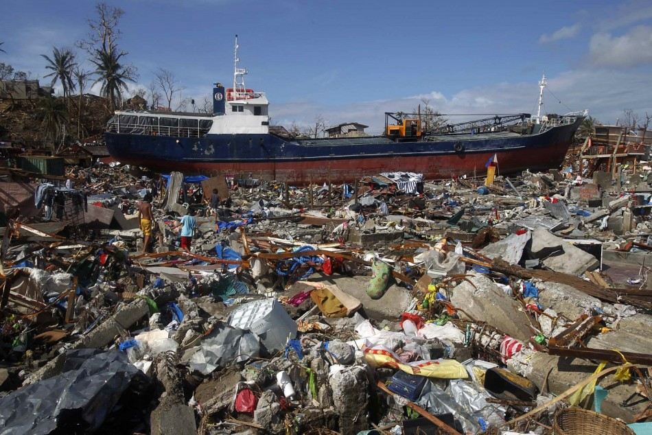typhoon Haiyan devastation