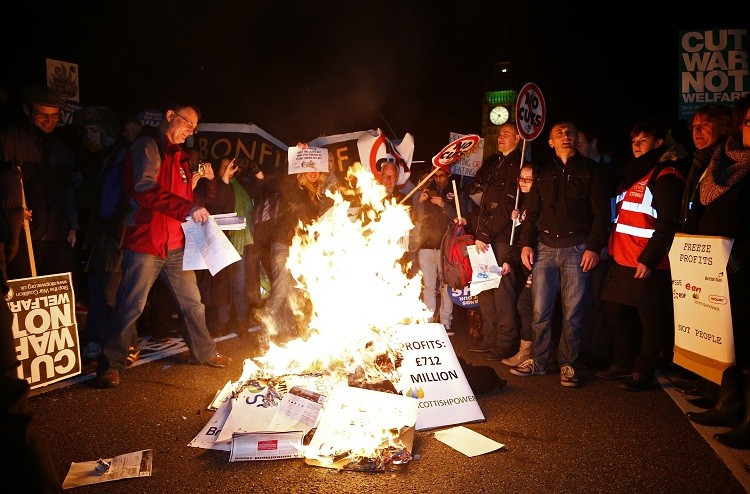 UK energy bills protest