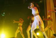 Singer Selena Gomez performs during her Stars Dance Tour at Staples Center in Los Angeles, California