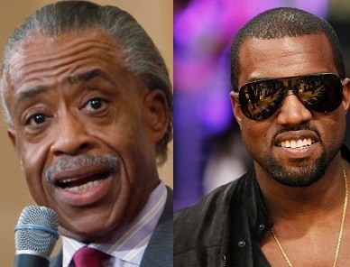 Al Sharpton and Kanye west