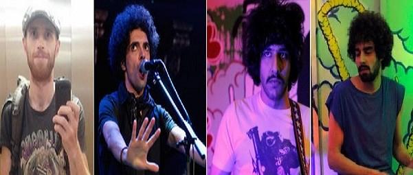 (l -r) Killer Raefe Ahkbar, Ali Eskandarian, Soroush Farazmand & Arash Farazman