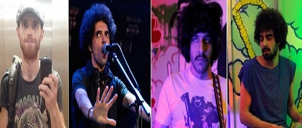 (l -r) Killer Raefe Ahkbar, Ali Eskandarian, Soroush Farazmand