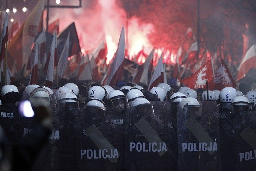 Police fired rubber bullets to try control the riots (Reuters)