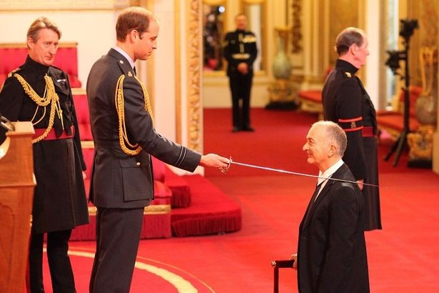 Prince William knights Sir Tony Robinson - and auditions for Blackadder role PIC: Pool