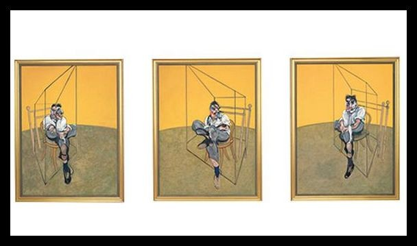 Francis Bacon's 1969 masterpiece, Three Studies of Lucian Freud. (Photo: http://www.christies.com)