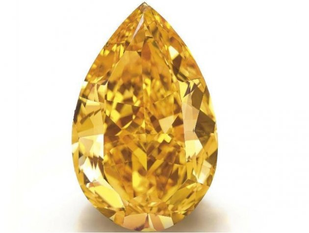 World's largest orange diamond has set new auction records. (Photo: http://www.christies.com)