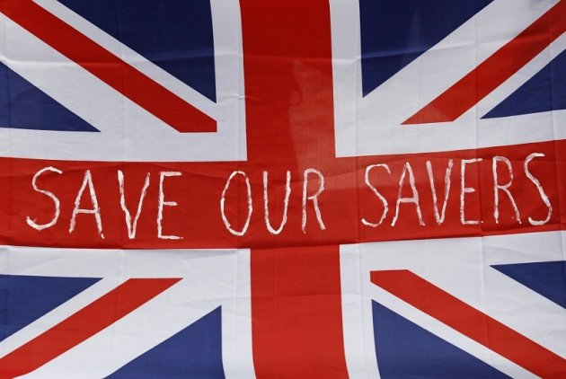 Save our savers flag