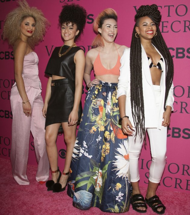 (L-R) Jess Plummer, Shereen Cutkelvin, Asami Zdrenka, and Amira McCarthy of British band