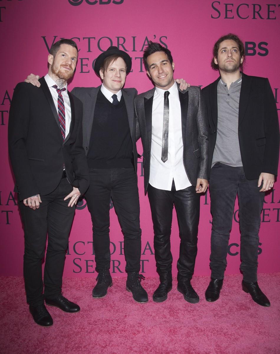 (L-R) Andy Hurley, Patrick Stump, Pete Wentz and Joe Trohman of band