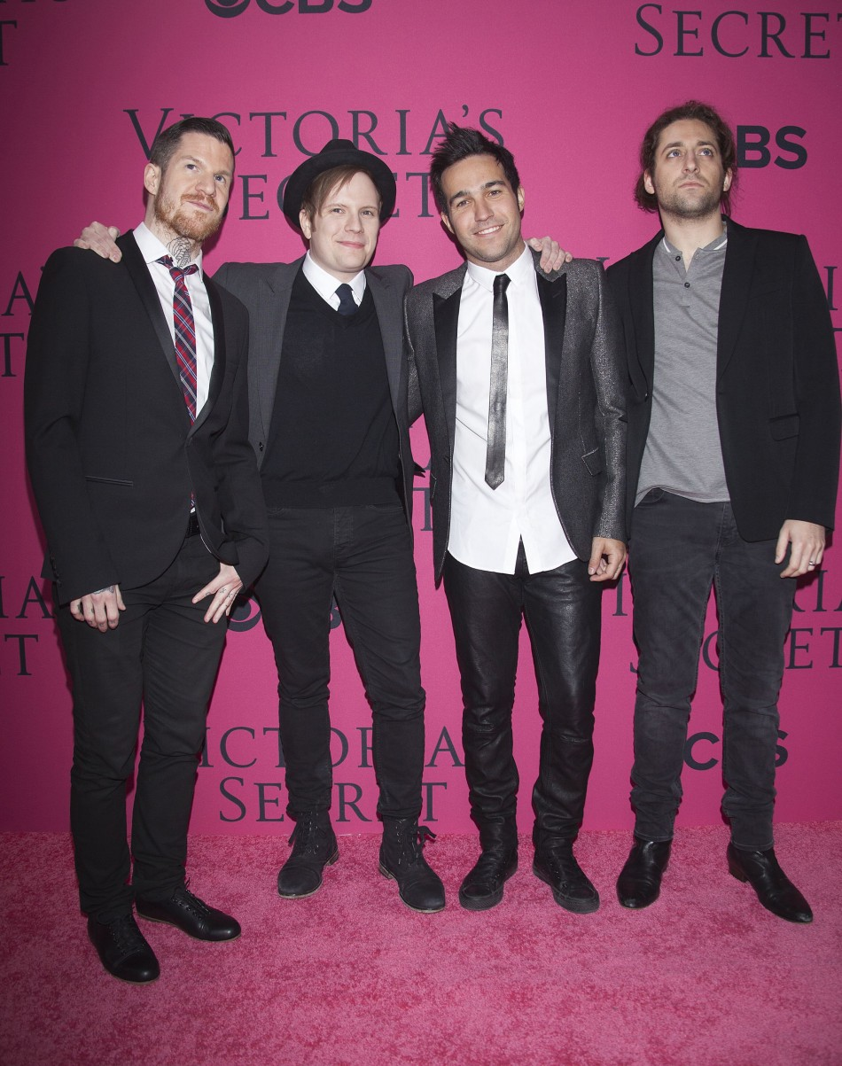 (L-R) Andy Hurley, Patrick Stump, Pete Wentz and Joe Trohman of band