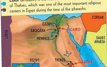 The location of Israel is replaced by Jordan in the map (Scholastic)