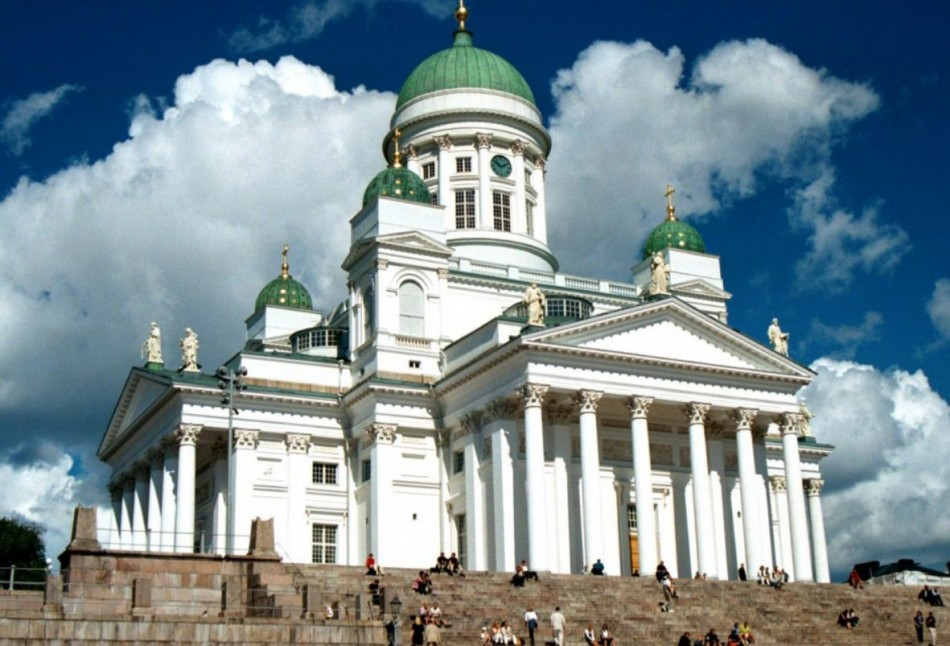 Finland maintained its last year's score of 7.4 in Life Satisfaction but fell 7th to 9th rank. In picture: The Lutheran Cathedral in Helsinki (Photo: stock.xchng)