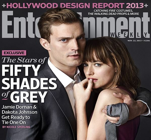 Irish actor/model Jamie Dornan and American actress Dakota Johnson showed off their chemistry as Christian Grey and Anastasia Steele in the first shoot for Fifty Shades of Grey. (Entertainment Weekly)