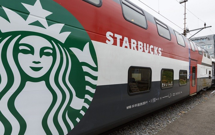 Starbucks train