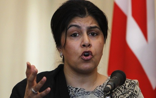Baroness Warsi has described the Christian persecution as a 'mass exodus on a biblical scale (Reuters)