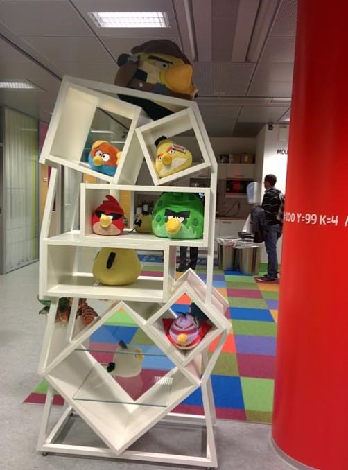 Angry Birds in Rovio's headquarters in Espoo, Helsinki