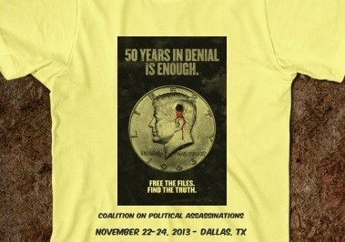 The COPA T-shirt on the JFK assassination