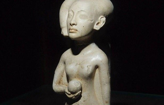 Statue of sister of the boy Pharaoh Tutenkhamun PIC: Mallawi central museum