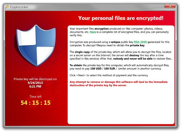 Cryptolocker Ransomware Campaign