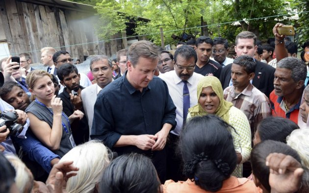 David Cameron visits northern Sri Lanka