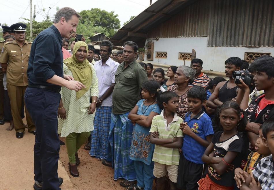Britain's Prime Minister David Cameron visit Jaffna