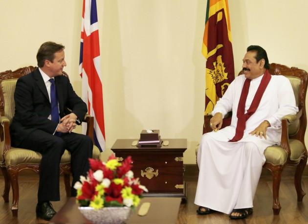 David Cameron-Mahinda Rajapaksa