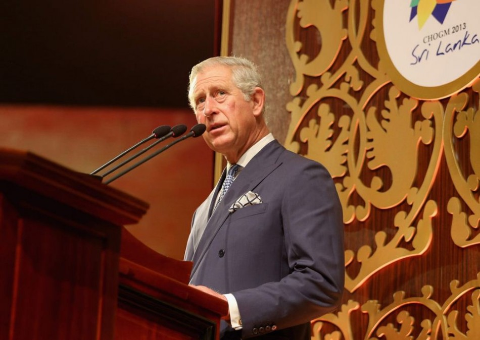 Prince Charles gives an address at the CHOGM opening ceremony in Colombo. (Photo: Clarence House)